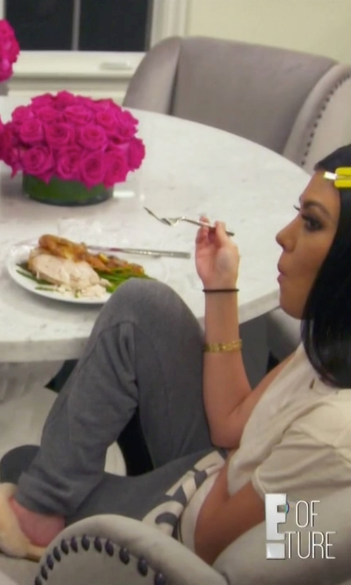 Kourtney Kardashian with UGG Genuine Shearling Slippers in Keeping Up With The Kardashians