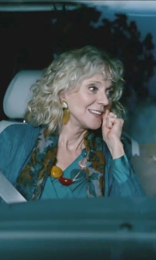 Blythe Danner with Coralia Leets Mykonos Double Stone Teardrop Post Earrings in Little Fockers