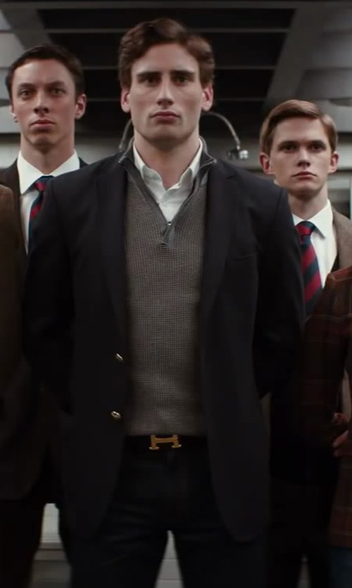 Edward Holcroft with DSQUARED Michael Buble Cotton Poplin Shirt in Kingsman: The Secret Service