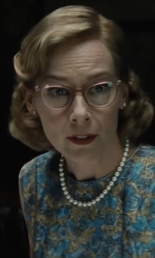 Amy Ryan with Honora White Freshwater Cultured Pearl Necklace in Bridge of Spies