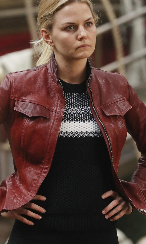 Jennifer Morrison with Eileen Fisher High-Neck Lightweight Jersey Tank in Once Upon a Time