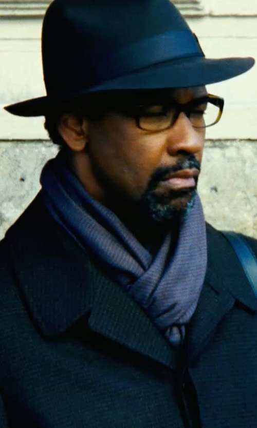 Denzel Washington with Ralph Lauren Rib-Knit Cashmere Scarf in Safe House