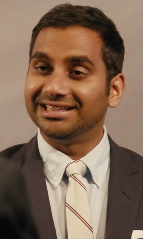 Aziz Ansari with Malo Stripe Tie in Master of None
