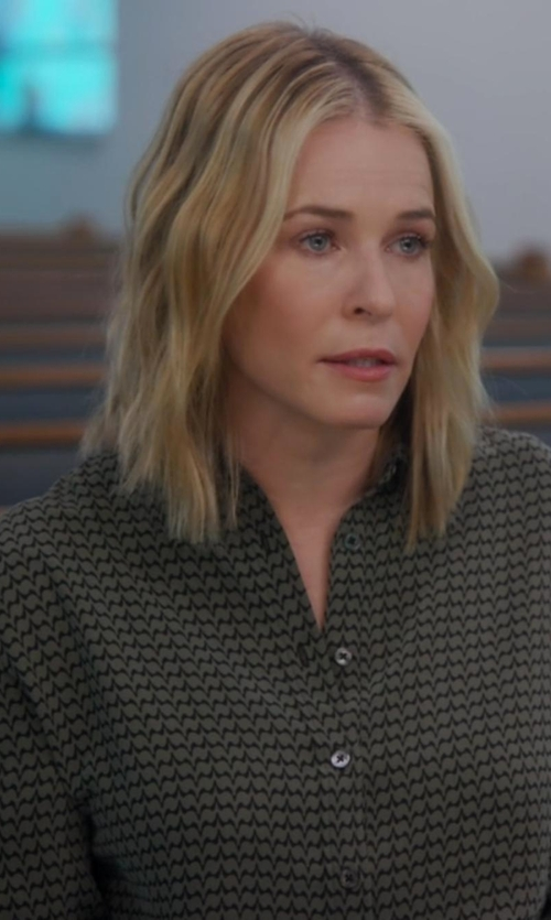 Chelsea Handler with Nouvelle Femme Patterned Blouse in Chelsea