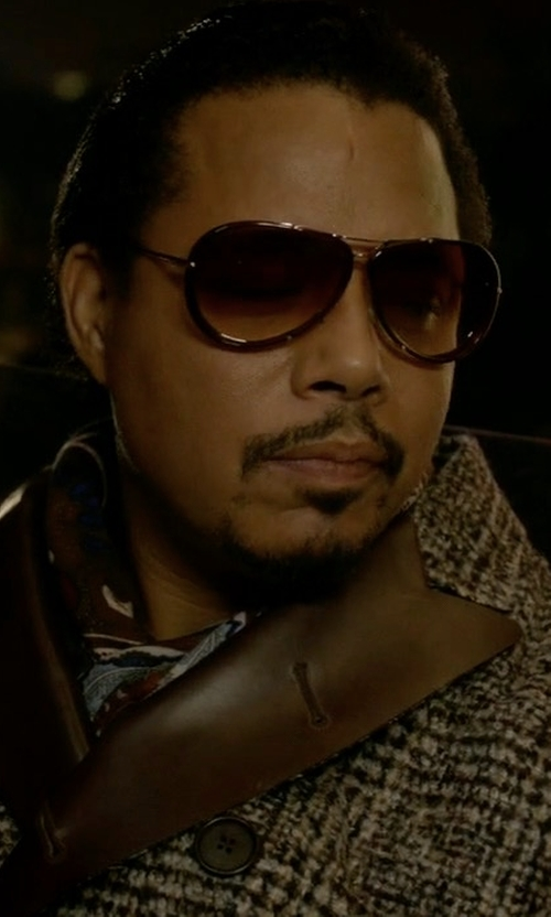 Terrence Howard  with Barena Double Breasted Overcoat in Empire