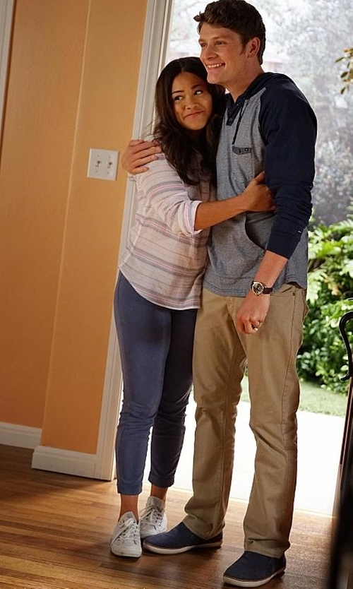 Brett Dier with Vince Barron Suede Slip-On Sneakers in Jane the Virgin