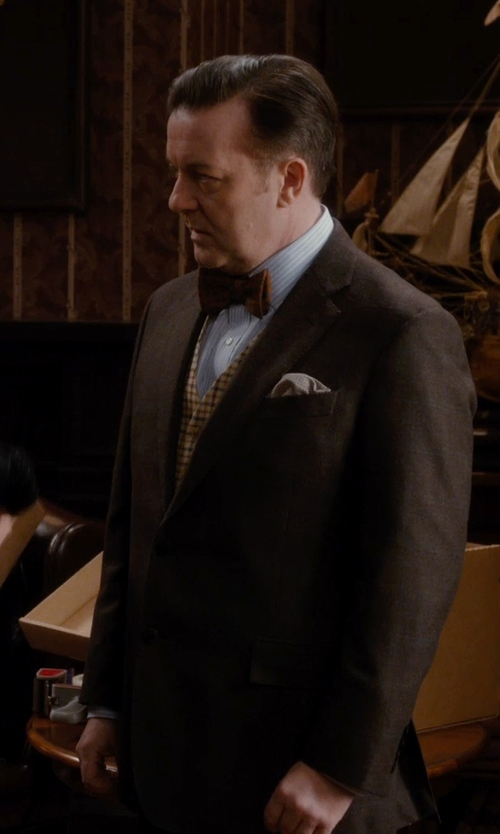 Ricky Gervais with Canali Diamond Print Silk Pocket Square in Night at the Museum: Secret of the Tomb