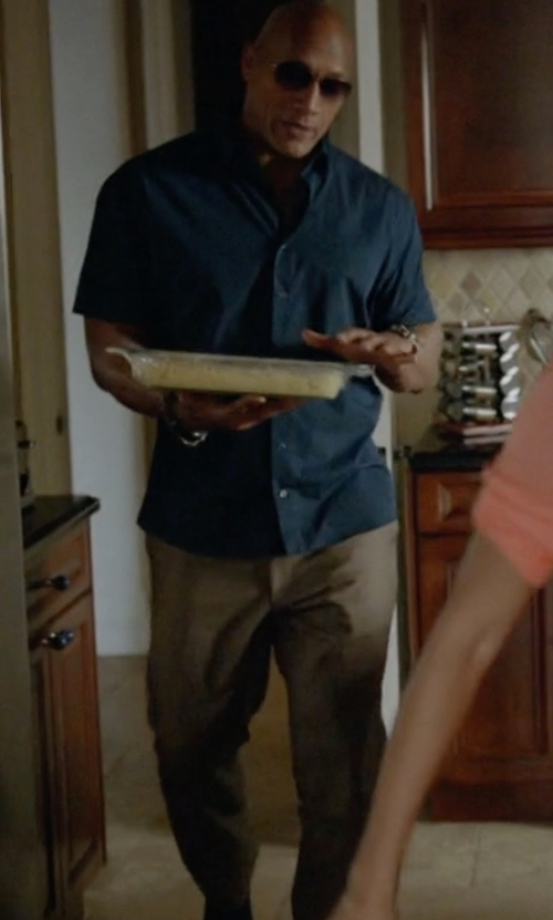 Dwayne Johnson with Rotasport Casual Pants in Ballers