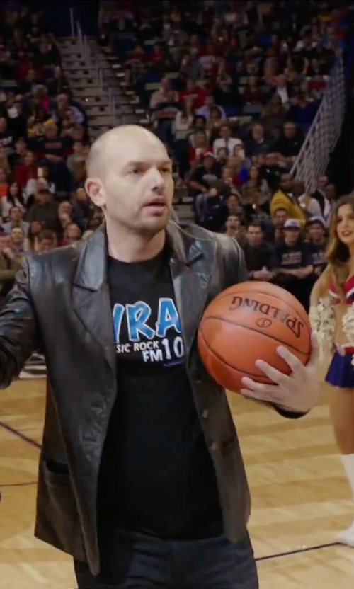 Paul Scheer with Excelled Leather Blazer Jacket in Daddy's Home