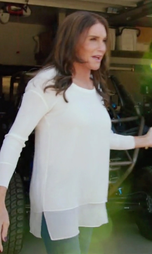 Caitlyn Jenner with Rag & Bone/Jean Split Sides Tee in Keeping Up With The Kardashians