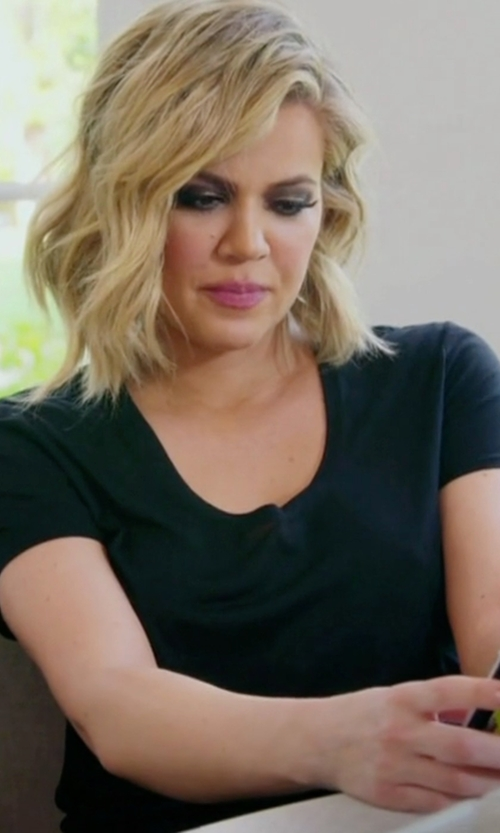 Khloe Kardashian with Dsquared2 V-Neck T-Shirt in Keeping Up With The Kardashians
