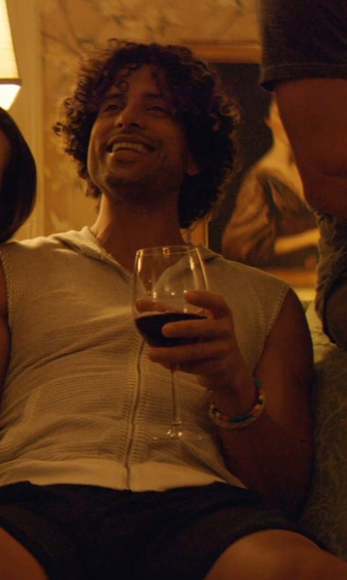 Adam Rodriguez with Luis Morais Evil Eye Gold & Enamel Bead Bracelet in Magic Mike XXL