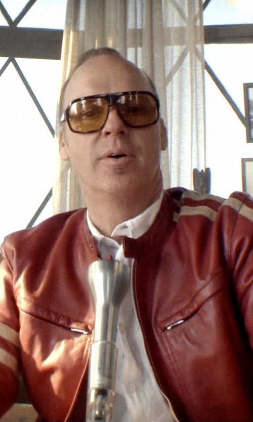 Michael Keaton with Diesel Laleta Leather Jacket in Need for Speed