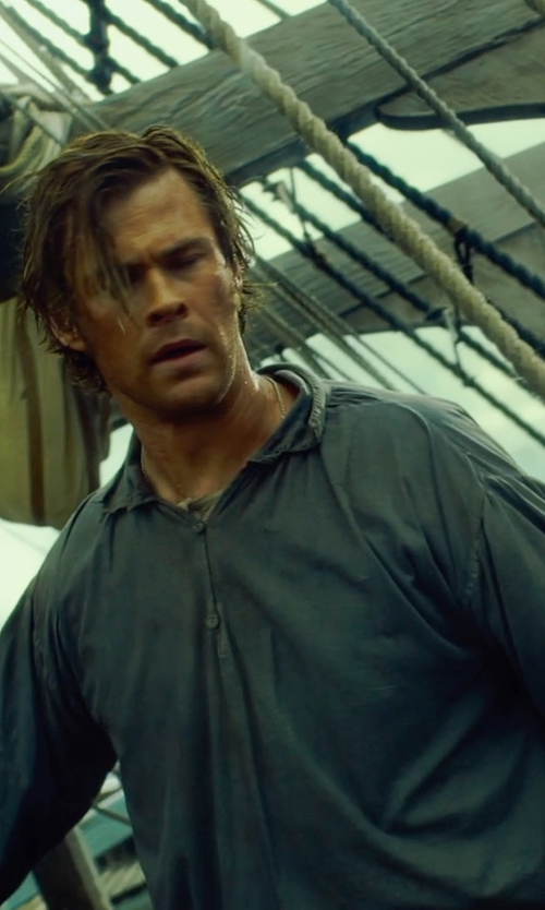 Chris Hemsworth with Julian Day (Costume Designer) Custom Made Renaissance Shirt (Owen Chase) in In the Heart of the Sea
