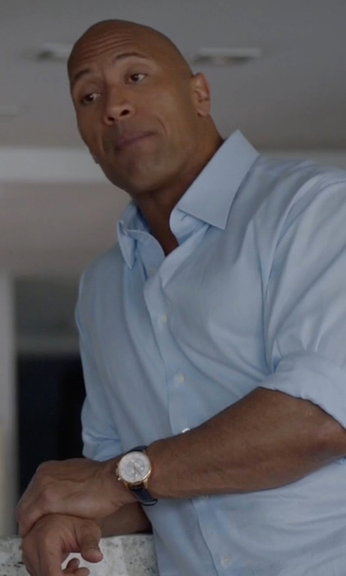 Dwayne Johnson with Shinola Canfield Alligator Strap Watch in Ballers