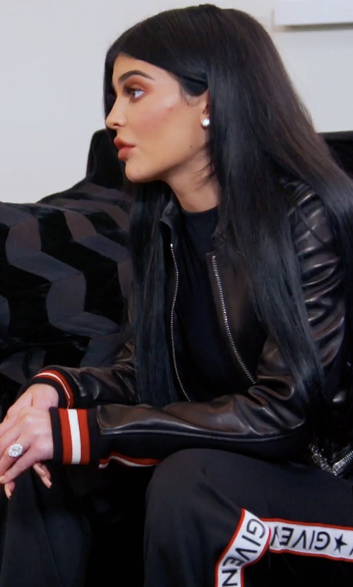 Kylie Jenner with Givenchy Logo Track Pants in Keeping Up With The Kardashians