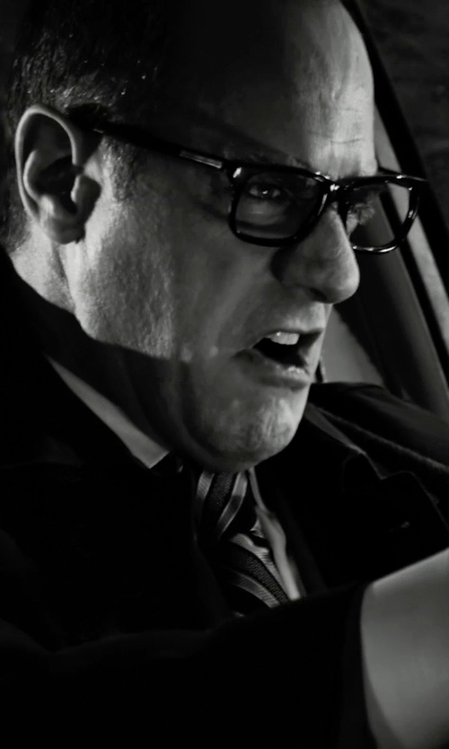 Christopher Meloni with David Donahue Twill French Cuff Regular Fit Dress Shirt in Frank Miller's Sin City: A Dame To Kill For