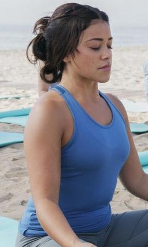 Gina Rodriguez with Heroine Sport Studio Mesh-Panel Athletic Tank Top in Jane the Virgin