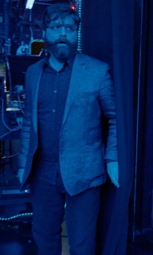 Zach Galifianakis with Versace Collection Denim Pants in Birdman