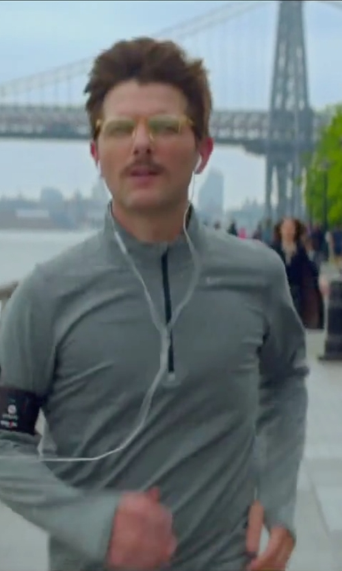 Adam Scott with Nike Running Element Dri-Fit Half-Zip Shirt in Sleeping with Other People