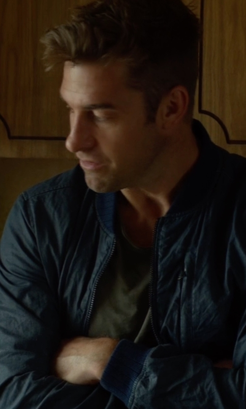 Scott Speedman with Vince Camuto Men's Lined Bomber Jacket in Animal Kingdom