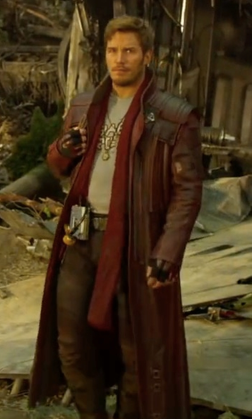 Chris Pratt with Alexandra Byrne (Costume Designer) Custom Made Star-Lord Costume in Guardians of the Galaxy Vol. 2