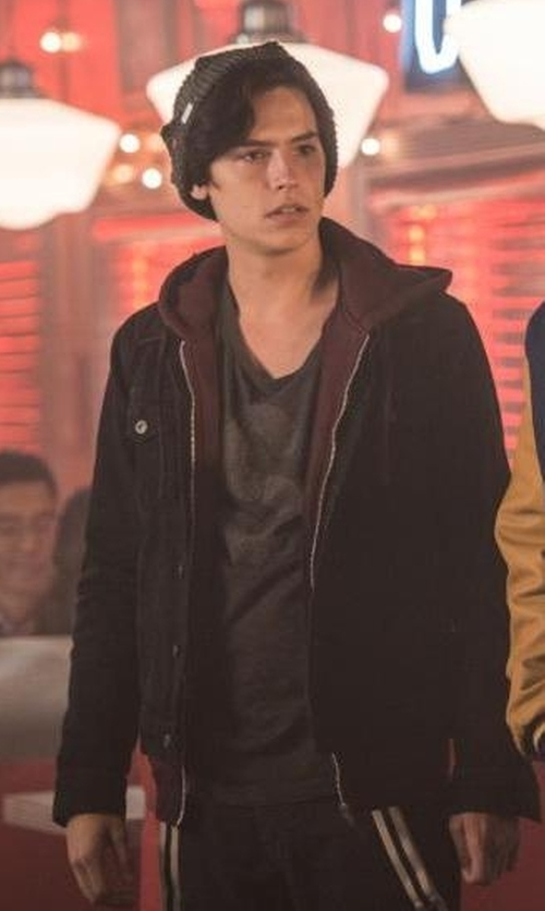 Cole Sprouse with Allsaints Bering Denim Jacket in Riverdale