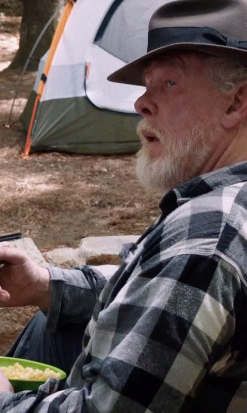 Nick Nolte with Barney New York Gingham Flannel Shirt in A Walk in the Woods