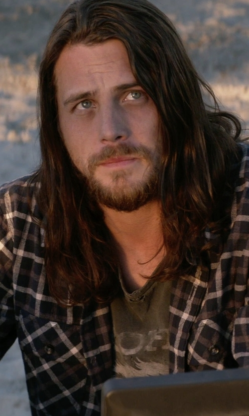 Ben Robson with Ralph Lauren Plaid Cotton Twill Workshirt in Animal Kingdom