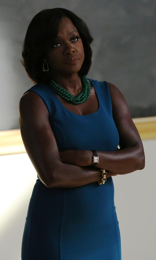 Viola Davis with Michael Kors Sleeveless Stretch Wool Crepe Dress in How To Get Away With Murder