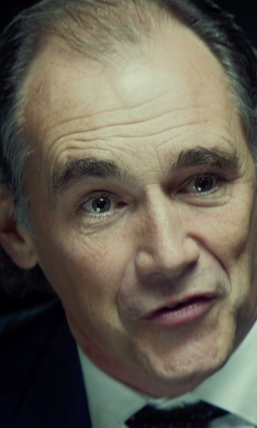 Mark Rylance with Ike Behar Solid French Cuff Dress Shirt in The Gunman