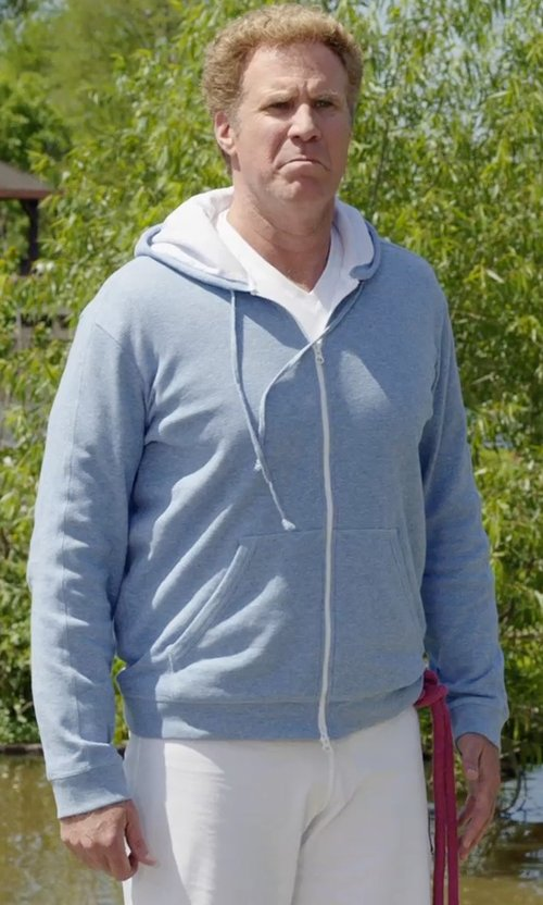 Will Ferrell with Quiksilver Better Circle Sherpa-Lined Hoodie Jacket in Get Hard