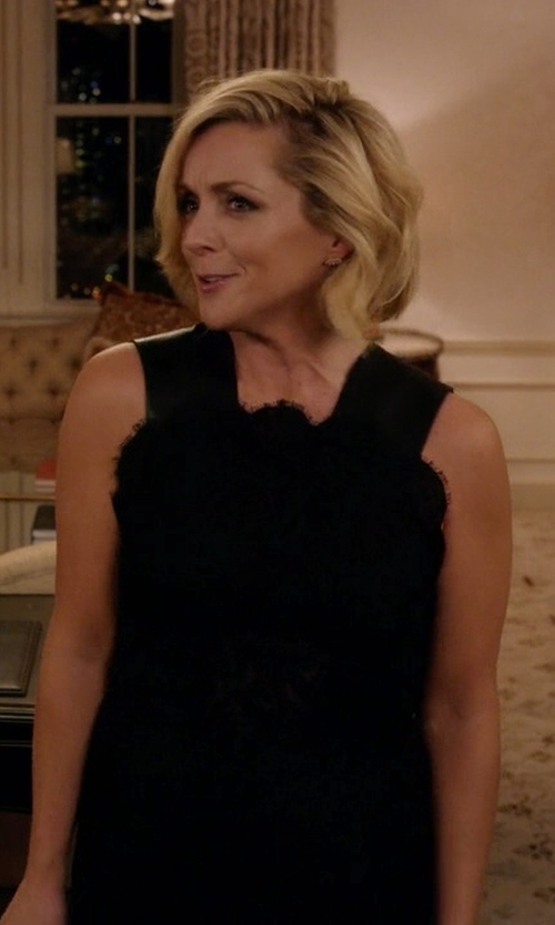 Jane Krakowski with Erdem Lace Dolly Dress in Unbreakable Kimmy Schmidt