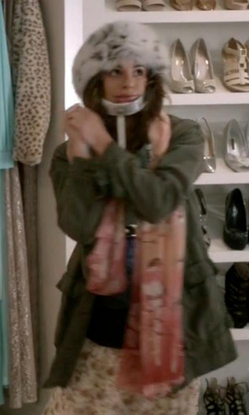 Lea Michele with Faliero Sarti 'Little D' Scarf in Scream Queens