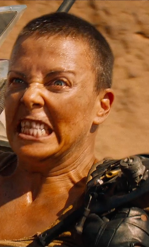 Charlize Theron with Jenny Beavan (Costume Designer) Custom Made Imperator Furiosa Costume in Mad Max: Fury Road