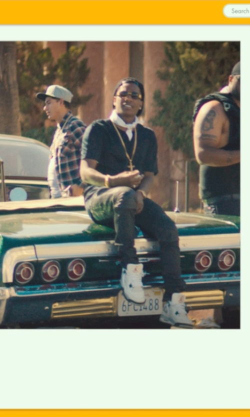 ASAP Rocky with Nike Air Jordan 4 Retro Shoes in Dope