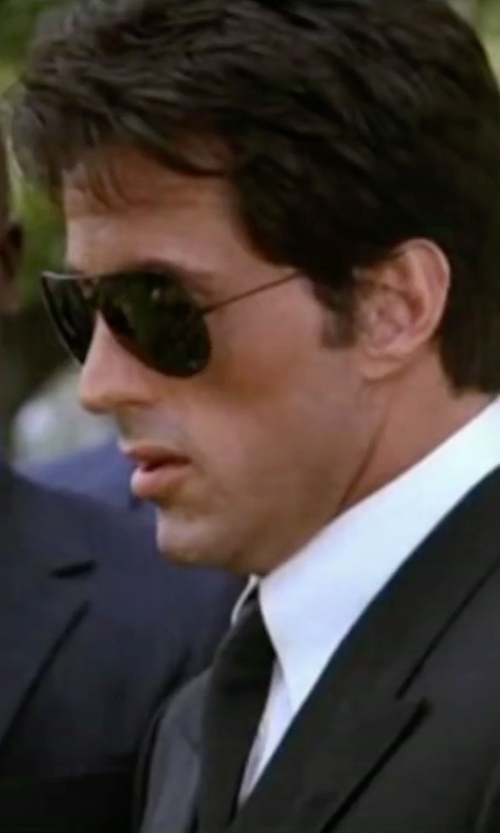 Sylvester Stallone with Brioni Satin Tie in Rocky IV