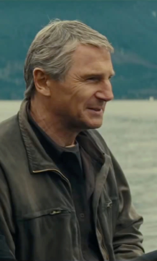 Liam Neeson with Calvin Klein Water-Resistant Zip-Front Jacket in The A-Team