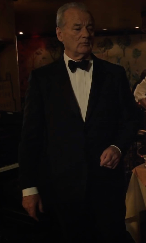 Bill Murray with David Donahue Classic Fit LoroPianaWool Notch Lapel Tuxedo in A Very Murray Christmas