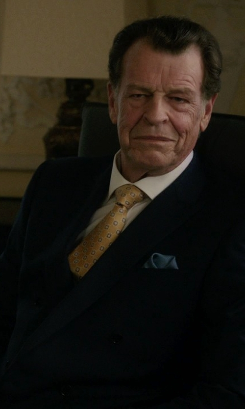 John Noble with Brooks Brothers Double-Breasted Tuxedo Jacket in Elementary