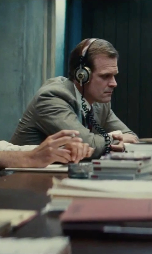 David Harbour with Andrew Marc Two Piece Wool Suit in Black Mass