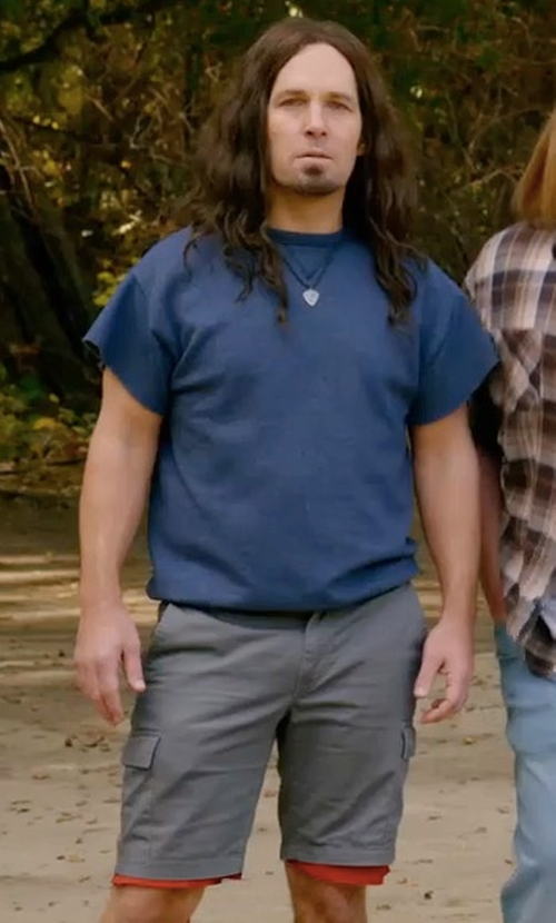 Paul Rudd with Kenneth Cole New York Cargo Pocket Camp Shorts in Wet Hot American Summer: Ten Years Later
