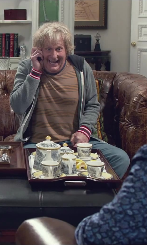 Steve Tom with Lenox Butterfly Meadow Tea Set in Dumb and Dumber To