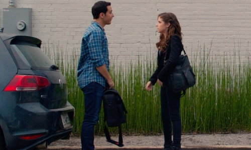Skylar Astin with Jack Spade Bridge Nylon Backpack in Pitch Perfect 2