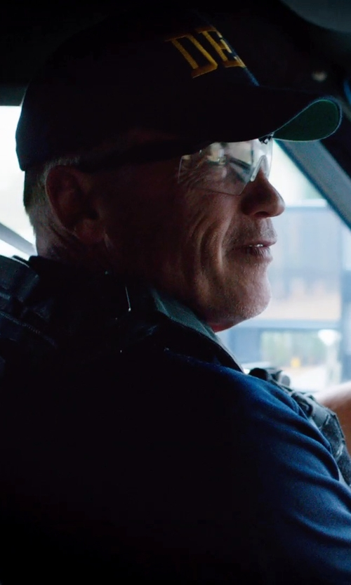 Arnold Schwarzenegger with Uvex Ambient Over-the-Glass Safety Glasses - Clear Lens in Sabotage