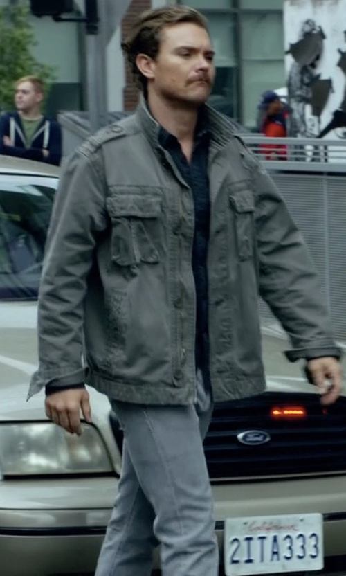 Clayne Crawford with J Brand Jeans Tyler Slim-Straight Jeans in Lethal Weapon
