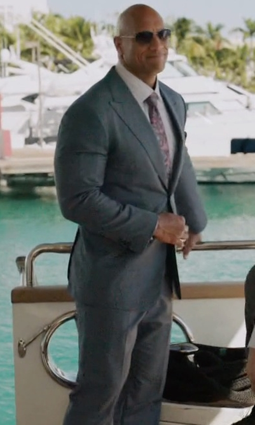 Dwayne Johnson with Huntsman Slim-Fit Wool Suit in Ballers