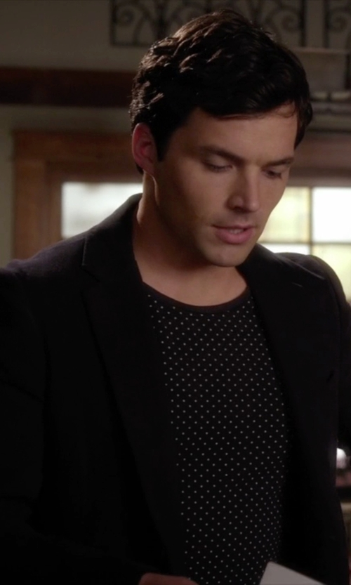 Ian Harding with Haggar Men's Two-Button Suit Jacket in Pretty Little Liars