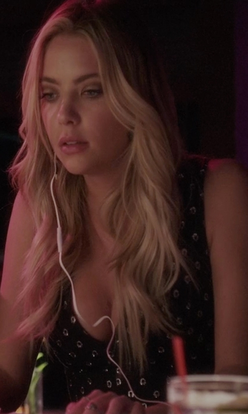 Ashley Benson with Alexis Aria Starlight High-Low Dress in Pretty Little Liars