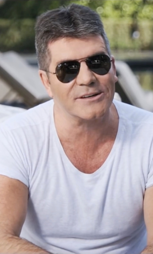 Simon Cowell with Ray-Ban 'Polarized Original Aviator' Sunglasses in Popstar: Never Stop Never Stopping